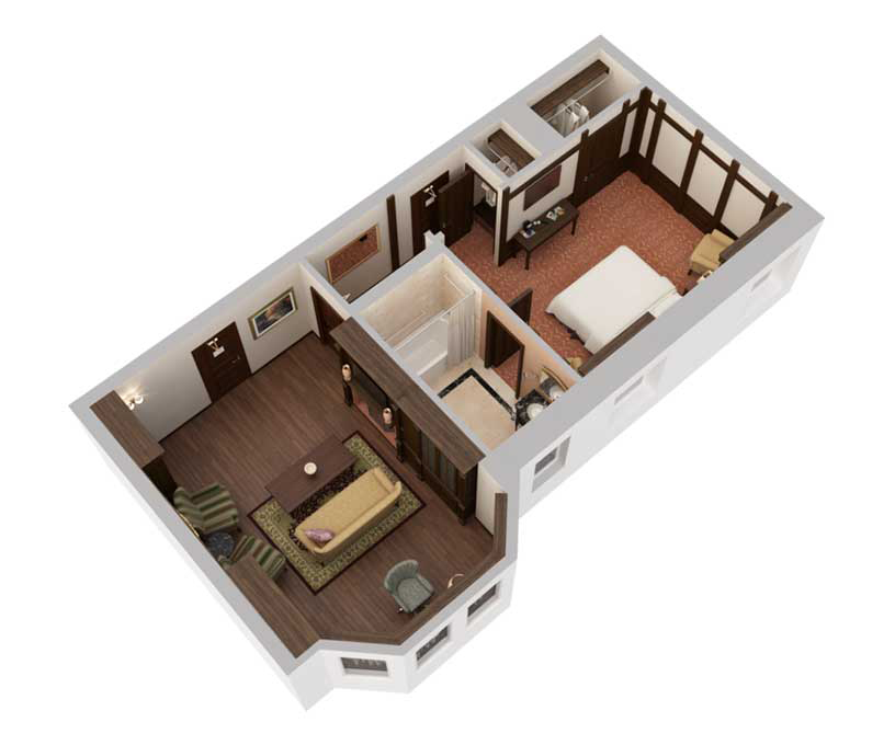 Seelbach Suite Floorplan